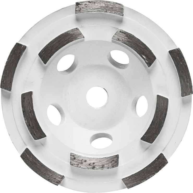 DC4510H 4-1/2 In. Double Row Segmented Diamond Cup Wheel