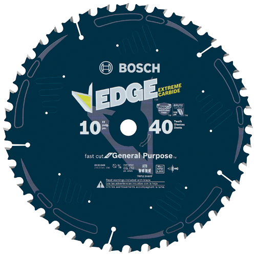 DCB1040 10 In. 40 Tooth Construction™ Table and Miter Saw Blade General Purpose