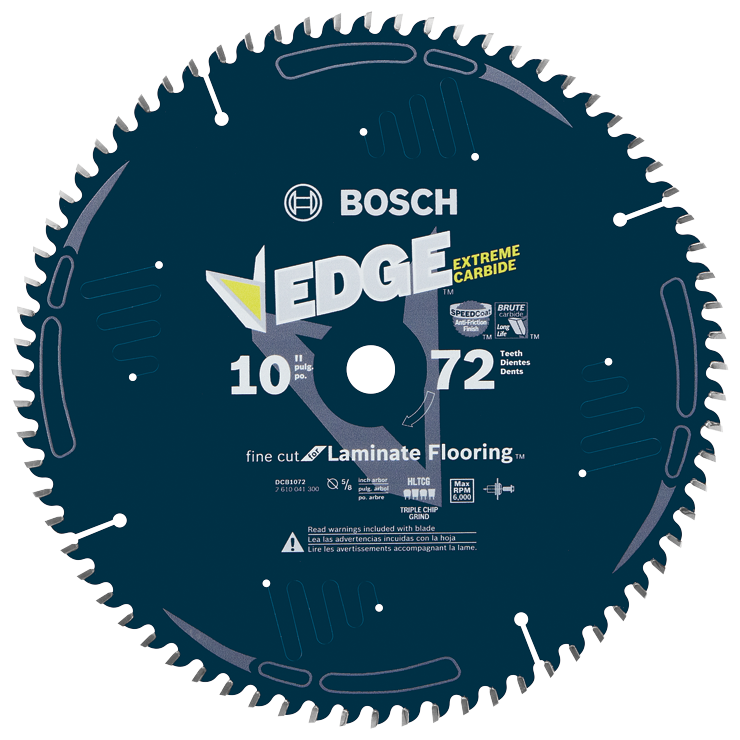 DCB1072 10 In. 72 Tooth Edge Circular Saw Blade for Laminate