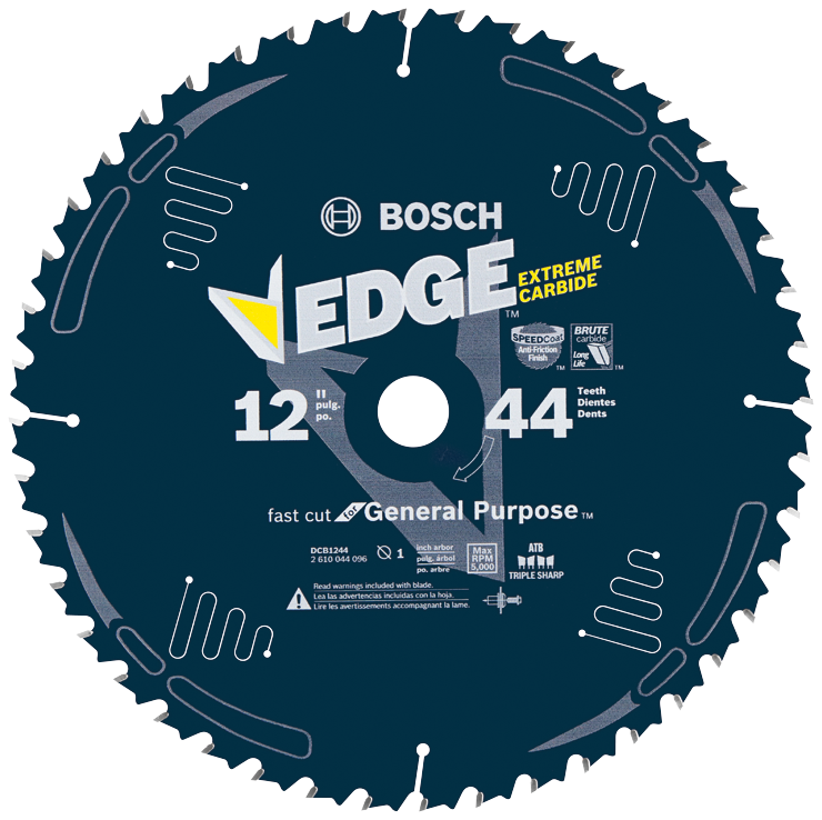 DCB1244 12 In. 44 Tooth Edge Circular Saw Blade for General Purpose Wood