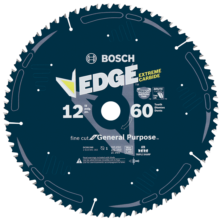 DCB1260 12 In. 60 Tooth Construction™ Table and Miter Saw Blade Fine Finish