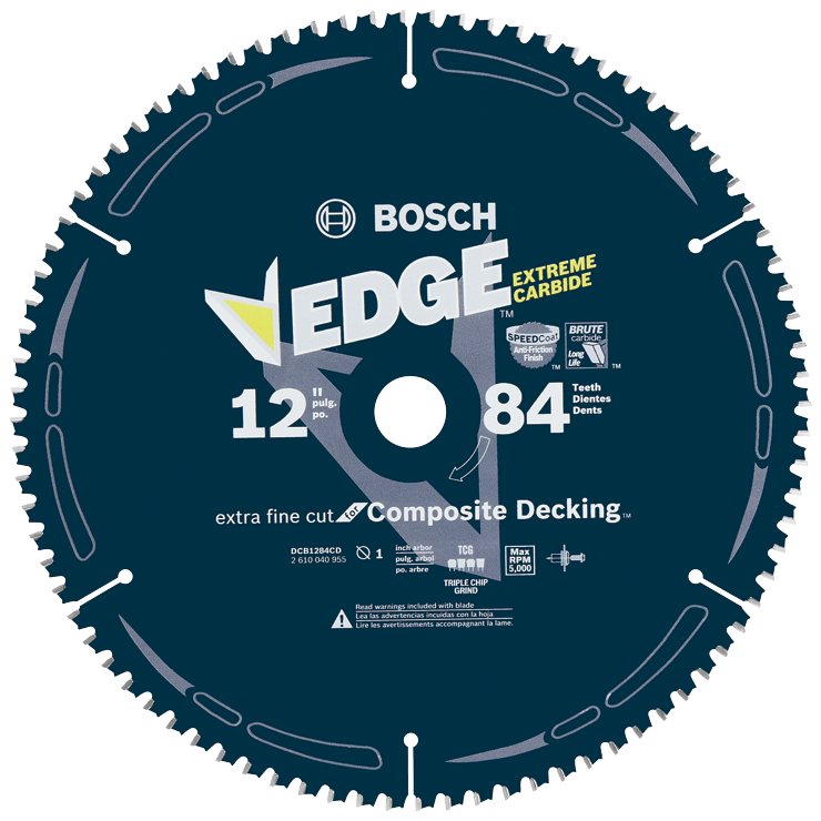 DCB1284CD 12 In. 84 Tooth Edge Circular Saw Blade for Composite Decking