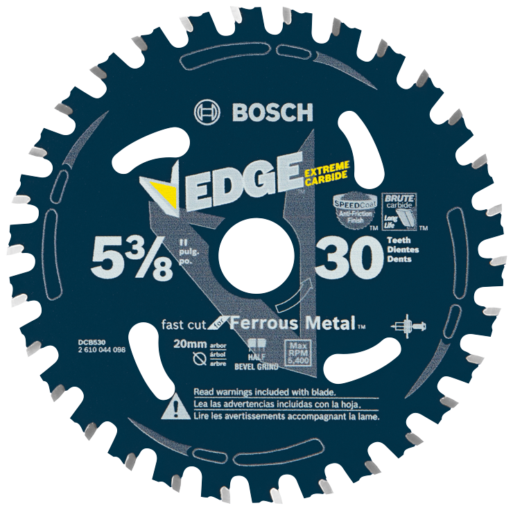 DCB530 5-3/8 In. 30 Tooth Edge Circular Saw Blade for Ferrous Metal Cutting