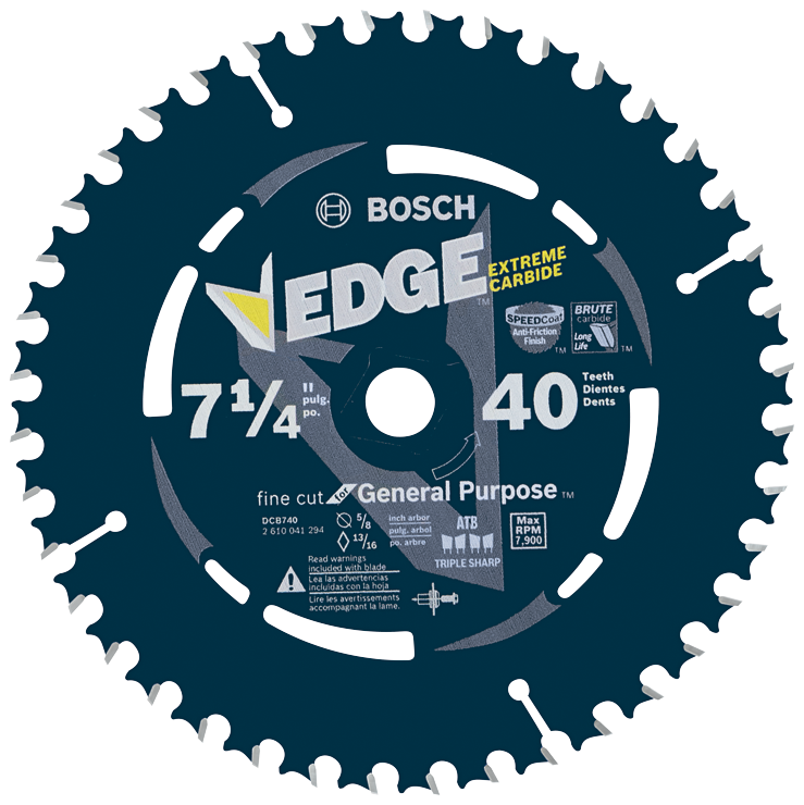 DCB740B10 10 pc. 7-1/4 In. 40 Tooth Edge Portable Saw Blade Finishing