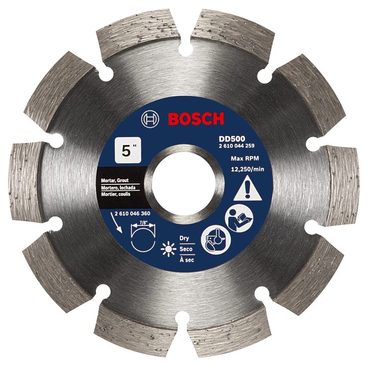 DD500 5 In. Premium Segmented Tuckpointing Blade