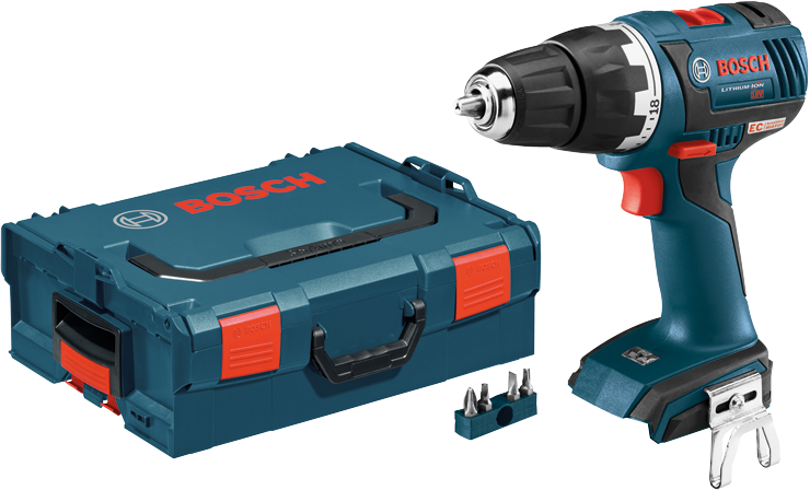 DDS182BL 18V EC Brushless Compact Tough 1/2 In. Drill/Driver Kit with L-Boxx Carrying Case