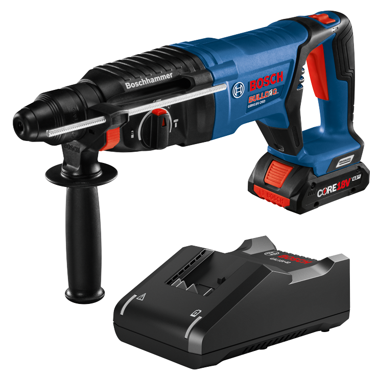 GBH18V-26DK15 18V EC Brushless SDS-plus® Bulldog™ 1 In. Rotary Hammer Kit with (1) CORE18V 4.0 Ah Compact Battery