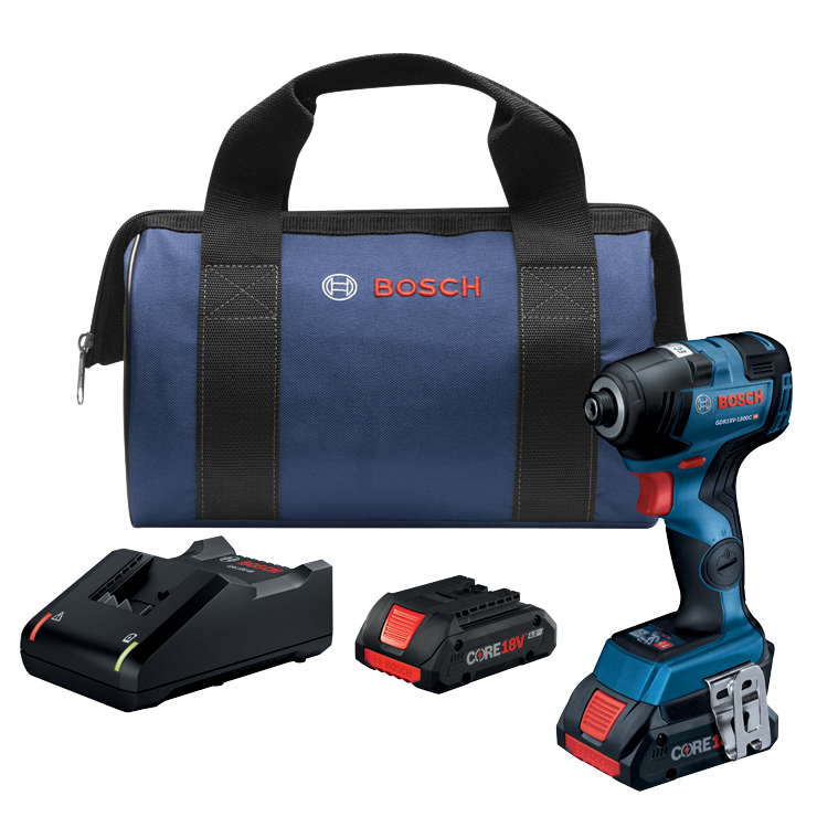 GDR18V-1800CB25 18V EC Brushless Connected-Ready 1/4 In. Hex Impact Driver Kit with (2) CORE18V 4.0 Ah Compact Batteries