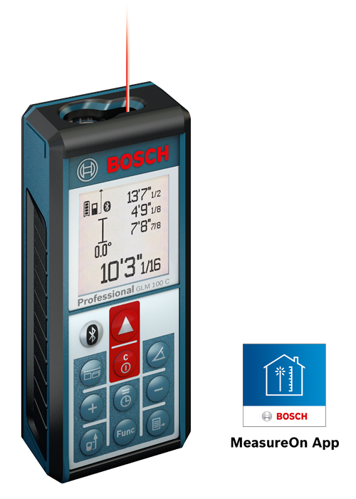 GLM 100 C Laser Measure with Bluetooth Wireless Technology