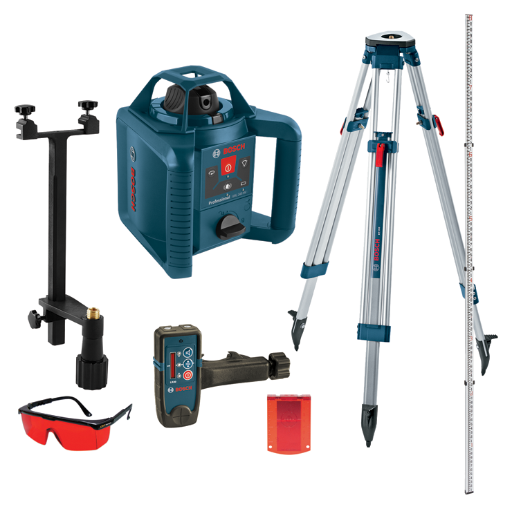 GRL 245 HVCK   Self-Leveling Rotary Laser Kit   Bosch Power