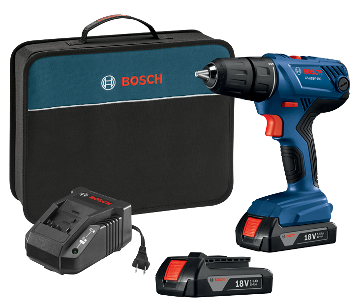 GSR18V-190B22 18 V Compact 1/2 In. Drill/Driver Kit with (2) 1.5 Ah SlimPack Batteries