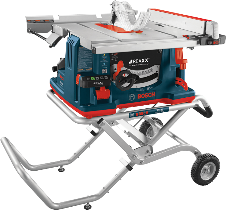 GTS1041A-09 10 In. REAXX™ Jobsite Table Saw with Gravity-Rise™ Wheeled Stand
