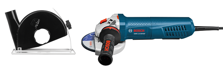 GWS13-50VSP-DG 5 In. Variable-Speed Angle Grinder with Paddle Switch and Dust Guard