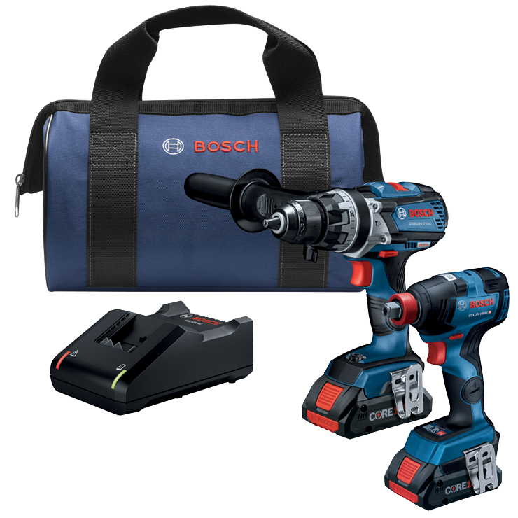 GXL18V-224B25 18V 2-Tool Combo Kit with Connected-Ready Freak 1/4 In. and 1/2 In. Two-In-One Bit/Socket Impact Driver, Connected-Ready Brute Tough 1/2 In. Hammer Drill/Driver and (2) CORE18V 4.0 Ah Compact Batteries