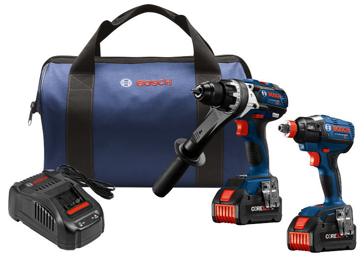 GXL18V-225B24 18V 2-Tool Combo Kit with Brute Tough 1/2 In. Hammer Drill/Driver and 1/4 In. and 1/2 In. Two-In-One Bit/Socket Impact Driver