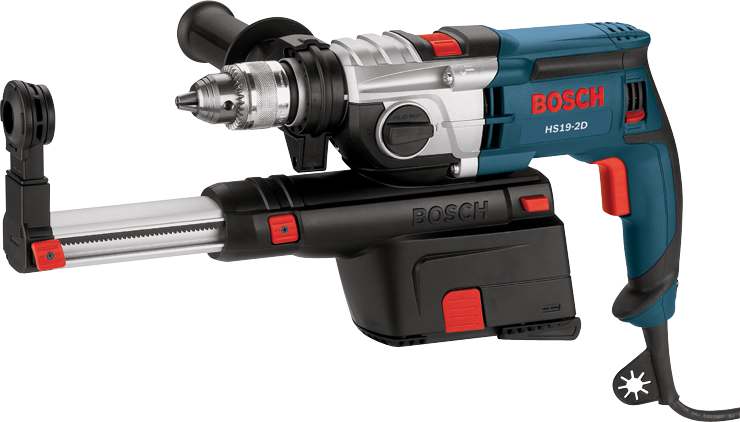 HD19-2D 1/2 In. 2 Speed Hammer Drill with Dust Collection