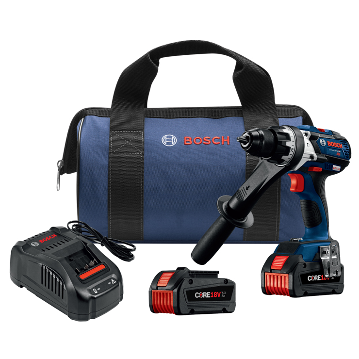 HDH183-B24 18V EC Brushless Brute Tough 1/2 In. Hammer Drill/Driver Kit with (2) CORE18V 6.3 Ah Batteries