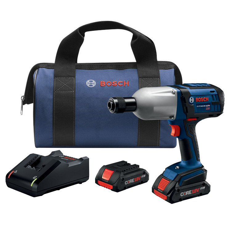 HTH182-B25 18V High-Torque Impact Wrench Kit with (2) CORE18V 4.0 Ah Compact Batteries