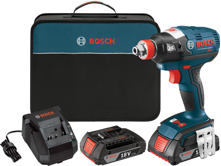 IDH182-02 18V EC Brushless 1/4 In. and 1/2 In. Two-In-One Bit/Socket Impact Driver Kit