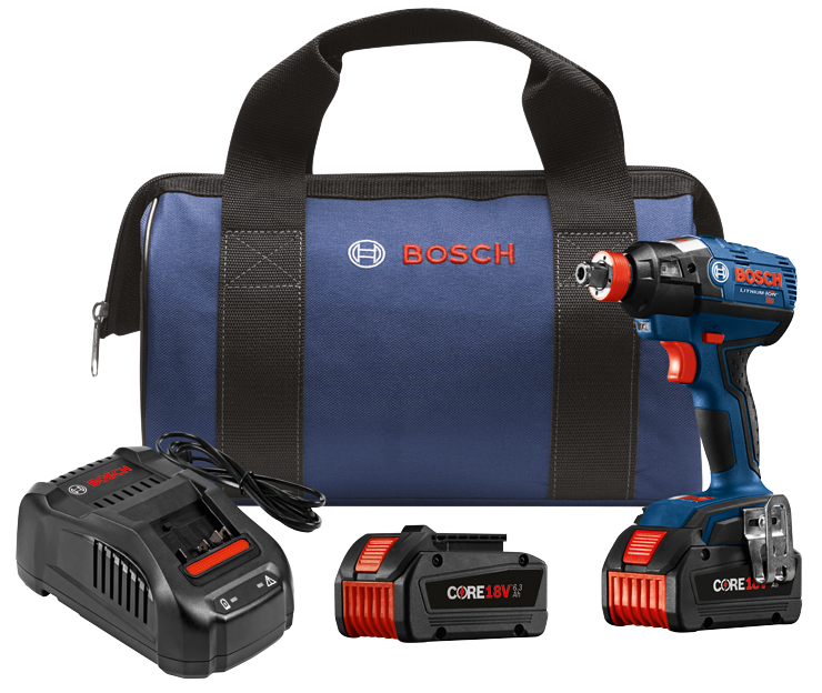 IDH182-B24 18V EC Brushless 1/4 In. and 1/2 In. Two-In-One Bit/Socket Impact Driver Kit with (2) CORE18 V 6.3 Ah Batteries