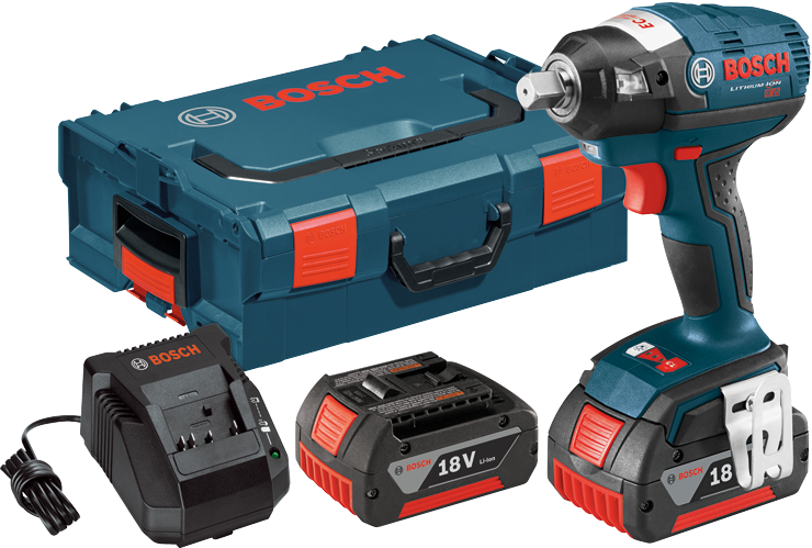 IWBH182-01L 18V EC Brushless 1/2 In. Square Drive Impact Wrench Kit with L-Boxx Carrying Case