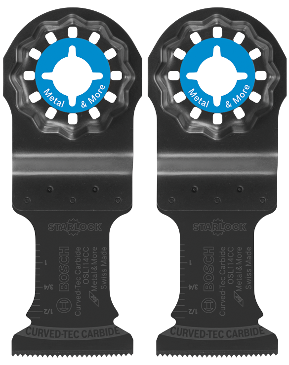 OSL114CC-2 1-1/4 In. Starlock® Oscillating Multi-Tool Curved-Tec Carbide Extreme Plunge Blade 2 pk.