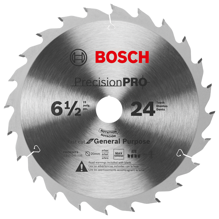 PRO624TS 6-1/2 In. 24-Tooth Precision Pro Series Track Saw Blade