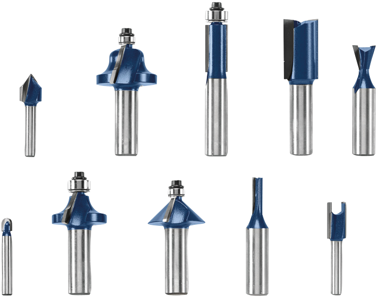 RBS010 10 pc. All-Purpose Router Bit Set