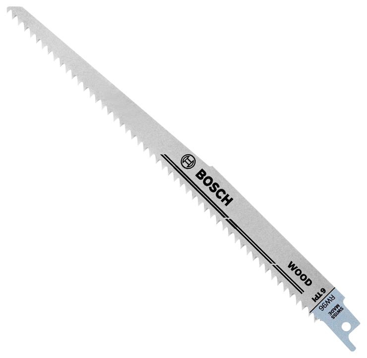 RW96 5 pc. 9 In. 6 TPI Wood Reciprocating Saw Blades