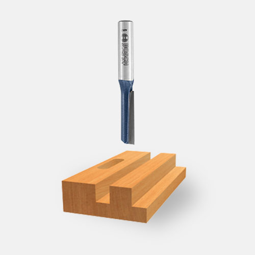 Single-Flute Straight Router Bits
