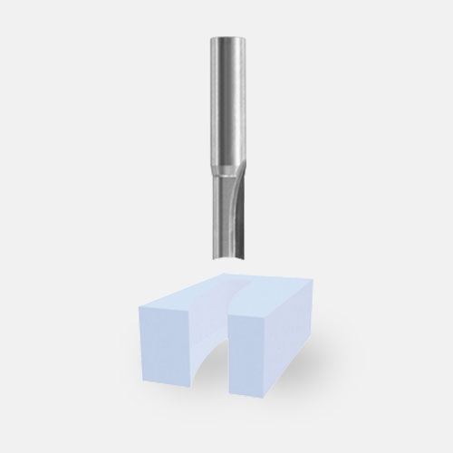 Solid Carbide Double-Flute Straight Bits