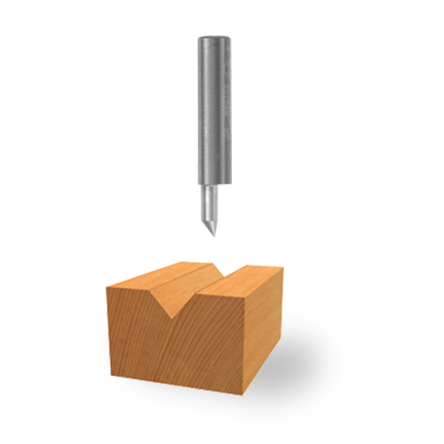 Solid Carbide V-Groove Bit