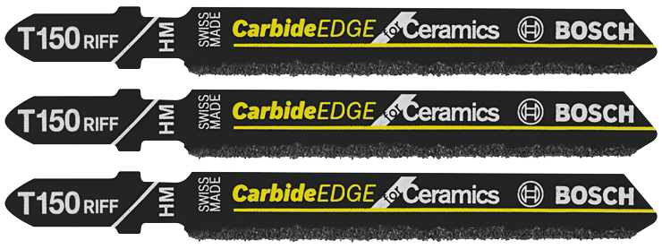 T150RF3 3 pc. 3-1/4 In. 50 Grit Carbide Edge for Ceramics T-Shank Jig Saw Blades