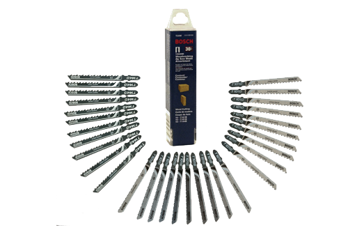 T30W 30 pc. T-Shank Jig Saw Blade Set Optimized for Wood