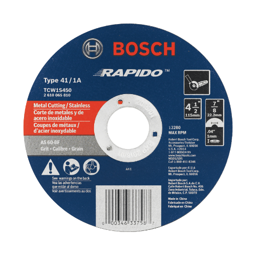 Thin Cutting Wheels for Angle Grinders / Rapido Type 1A