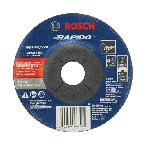 Thin Cutting Wheels for Angle Grinders / Rapido Type 27A