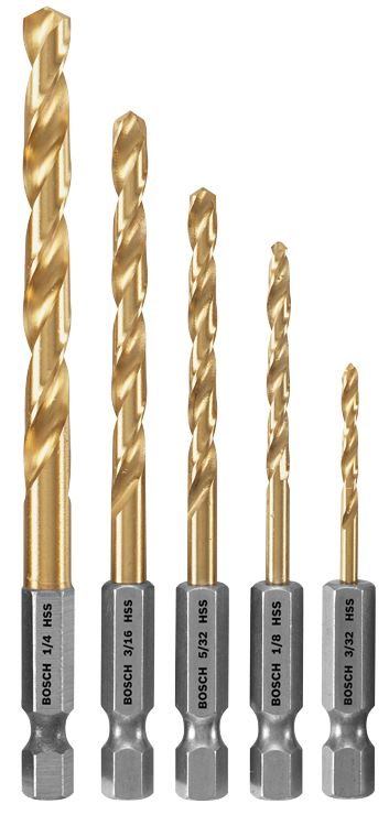 TI5IM 5 Pc. Impact Tough™ Titanium Drill Bit Set