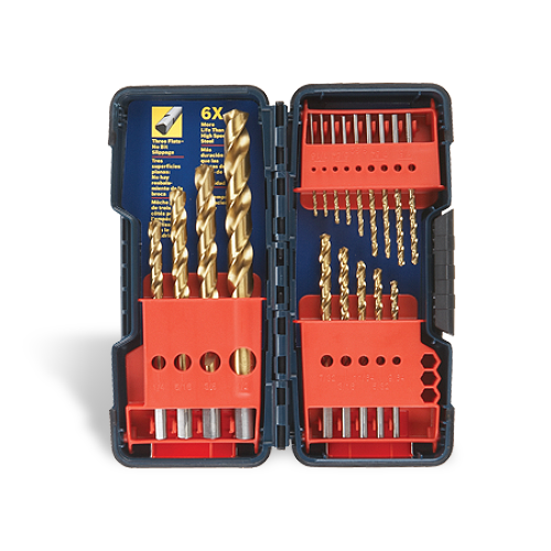 Titanium-Coated Drill Bit Sets