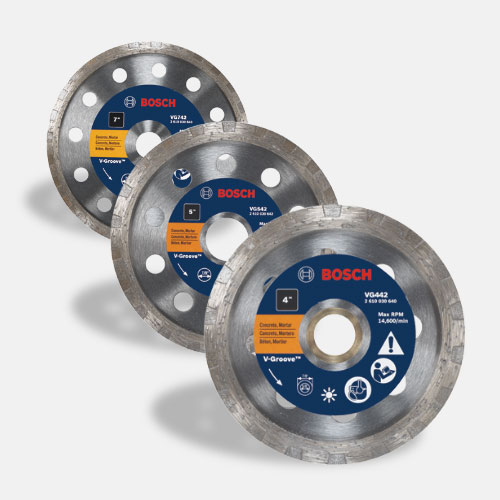 Turbo Rim V-Groove Diamond Blades