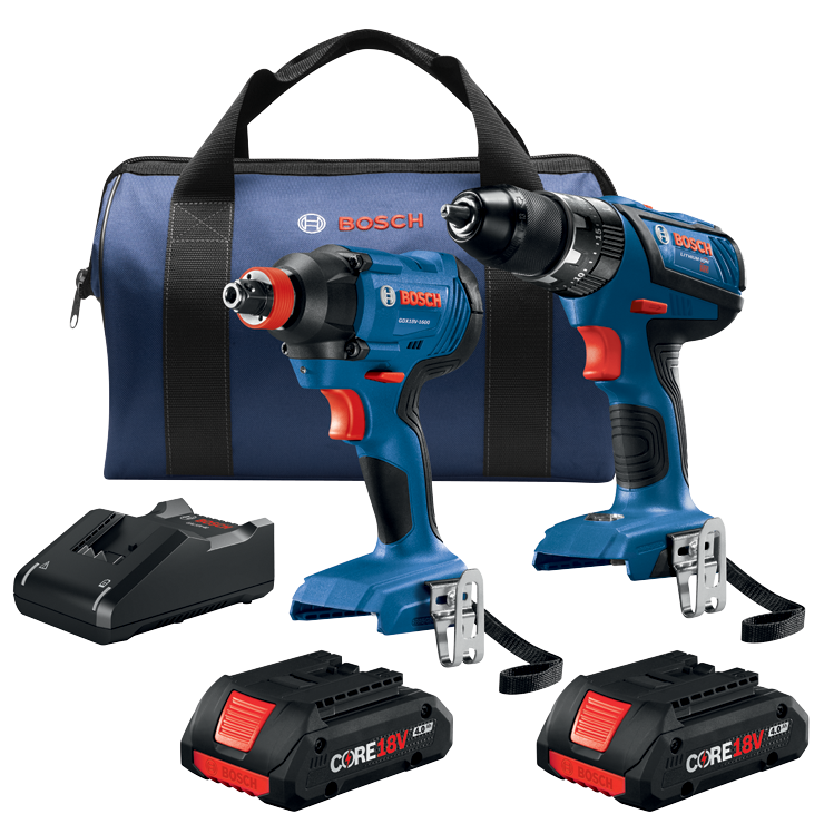 GXL18V-239B25 18V 2-Tool Combo Kit with 1/2 In. Compact Tough Hammer Drill/Driver and 1/4 In. and 1/2 In. Two-In-One Bit/Socket Impact Driver