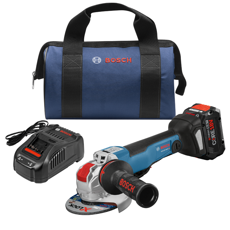 GWX18V-50PCB14 18V X-LOCK Brushless Connected-Ready 4-1/2 In. – 5 In. Angle Grinder Kit with (1) CORE18V 8.0 Ah Performance Battery