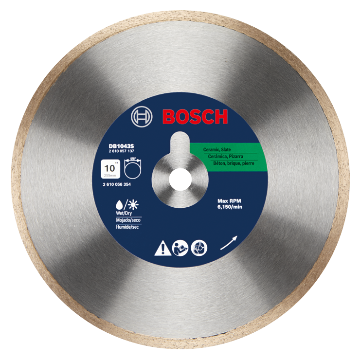 DB1043S 10 In. Standard Continuous Rim Diamond Blade for Clean Cuts