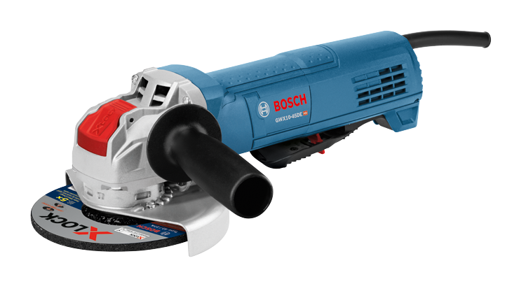 GWX10-45DE 4-1/2 In. X-LOCK Ergonomic Angle Grinder with No Lock-On Paddle Switch