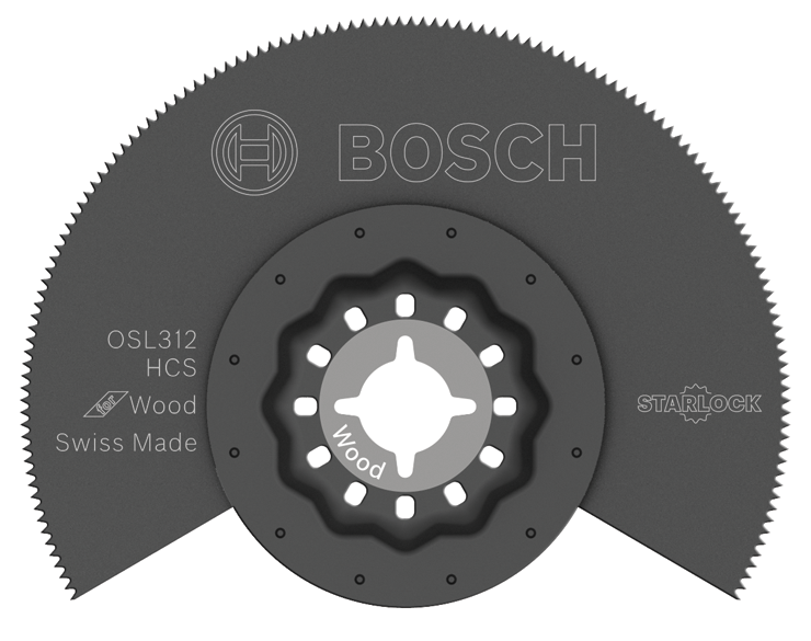 OSL312 3-1/2 In. Starlock® Oscillating Multi Tool High-Carbon Steel Segmented Saw Blade