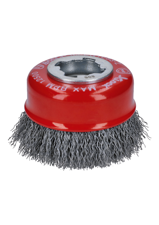 WBX318 3 In. Wheel Dia. X-LOCK Arbor Carbon Steel Crimped Wire Cup Brush