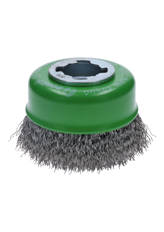 WBX319 3 In. Wheel Dia. X-LOCK Arbor Stainless Steel Crimped Wire Cup Brush