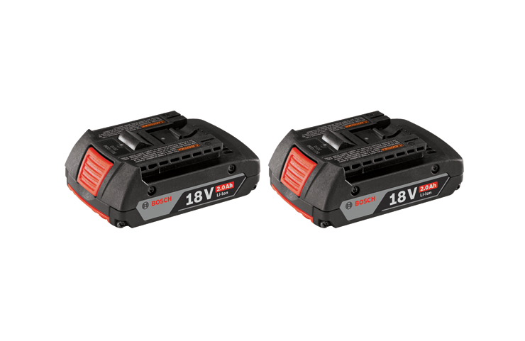 BAT612-2PK Ensemble de 2 batteries SlimPack Lithium-Ion 18 V de 2,0 Ah