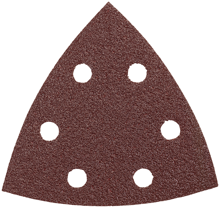 SDTR040 3-3/4 In. 40 Grit 5 pc. Detail Sander Abrasive Triangles for Wood