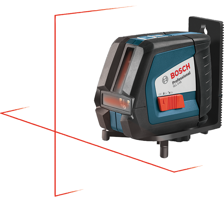Gll 2 45 niveau laser en croix nivellement automatique - Laser en croix bosch ...