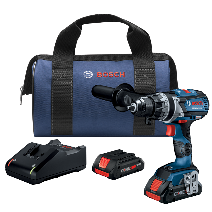 GSR18V-755CB25 Ensemble perceuse-visseuse 18 V EC Connected-Ready Brute Tough sans balais de 1/2 po avec (2) batteries compactes de 4,0 Ah CORE18 V